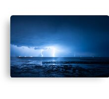 Lightning at Scarborough Canvas Print