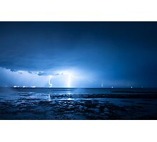 Lightning at Scarborough Photographic Print