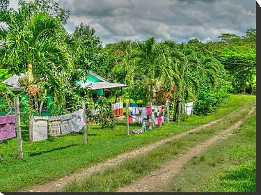 Laundry Day in Bullet Tree Falls Village - Belize, Central America by 242Digital