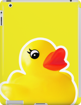 Rubber Ducky [Print | iPhone / iPad / iPod Case & Tshirt] by Damienne Bingham