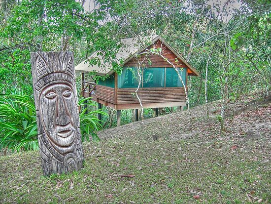 Mayan Sculpture in Mountain Pine Ridge Area - Belize, Central America by 242Digital