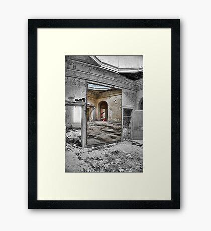 MIRROR DECAY Framed Print