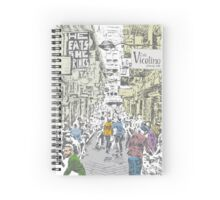 Melbourne city lane-way Spiral Notebook