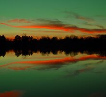 A Scioto River Sunset - Columbus, Ohio by michael6076