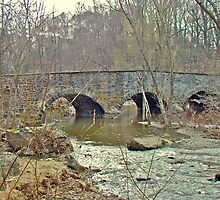 Old Stone Bridge Over the Unami Creek - Sumneytown PA by MotherNature