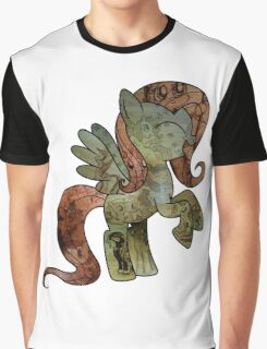Fluttershy woodart collage Graphic T-Shirt