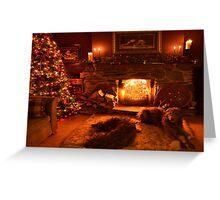 waitin for santa Greeting Card