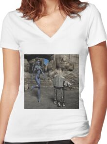 Sci-Fi Fantasy  Women's Fitted V-Neck T-Shirt