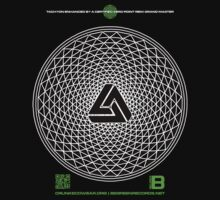 NOV 2012 MERCH PHI 777 IMPOSSIBLE CROP CIRCLE TRIANGLE BLACK WITH CEWDI QRCODE Kids Clothes