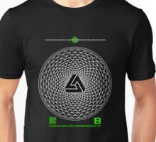 NOV 2012 MERCH PHI 777 IMPOSSIBLE CROP CIRCLE TRIANGLE BLACK WITH CEWDI QRCODE Unisex T-Shirt