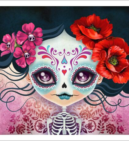 Amelia Calavera - Sugar Skull Sticker