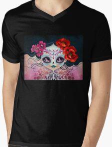 Amelia Calavera - Sugar Skull Mens V-Neck T-Shirt