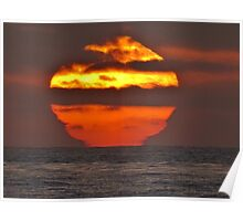 Pacific Ocean Sunset Poster