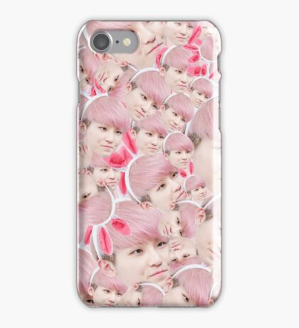 Woozi Face Collage   Seventeen iPhone Case/Skin