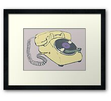 Phone record Framed Print