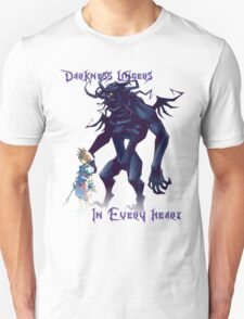 """""""Darkness Lingers in Every Heart"""" Kingdom Hearts T-Shirt"""