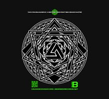 NOV 2012 MERCH HYPER PHI 777 IMPOSSIBLE CROP CIRCLE TRIANGLE BLACK WITH CEWDI QRCODE Unisex T-Shirt