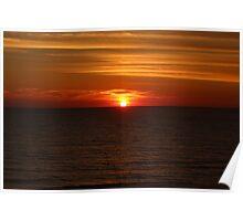 Sun Settling on Gulf Poster
