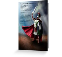 The Whole Armor of God - Poster 2 Greeting Card