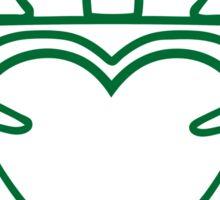 claddagh  ireland  irish crown Sticker