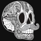 Mustache Sugar Skull by Tammy Wetzel
