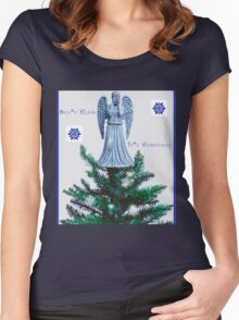 Doctor who weeping angel  Women's Fitted Scoop T-Shirt
