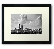 San Remo and Clouds Framed Print