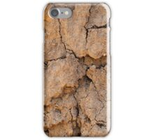 Dry earth with cracks iPhone Case/Skin