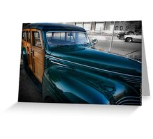 1940 Plymouth Woody Wagon Greeting Card