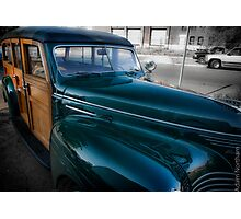 1940 Plymouth Woody Wagon Photographic Print