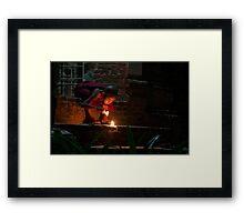 Novice Fireworks Framed Print