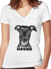 Boris the Greyhound mk2 Women's Fitted V-Neck T-Shirt