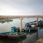 Colourful Fishing Boats in Rabat, Morocco by Robyn Carter