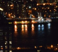 East River at Night Sticker