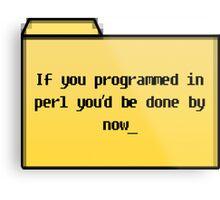 Programming in Pearl - Geek Cards Metal Print