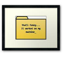 My Machine - Geek Cards Framed Print