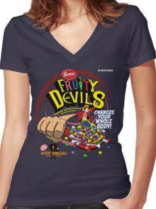 Gomu Fruity Devils Women's Fitted V-Neck T-Shirt