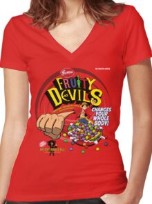 Gomu Fruity Devils Women's Fitted V-Neck T-Shirt
