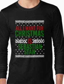 All I Want For Christmas (Sebastian Stan) Long Sleeve T-Shirt