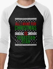 All I Want For Christmas (Sebastian Stan) Men's Baseball ¾ T-Shirt
