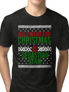 All I Want For Christmas (Sebastian Stan) Tri-blend T-Shirt