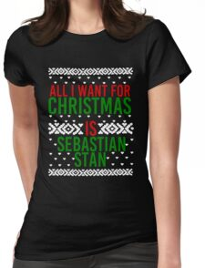 All I Want For Christmas (Sebastian Stan) Womens Fitted T-Shirt