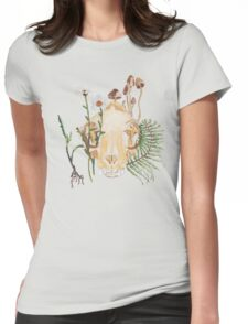Cat Skull Womens Fitted T-Shirt