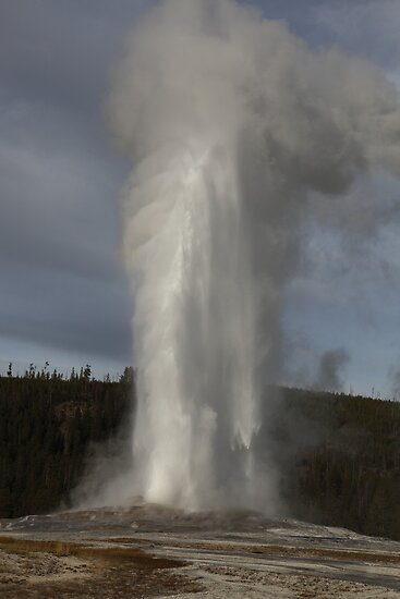 Old Faithful Geyser by Olga Zvereva