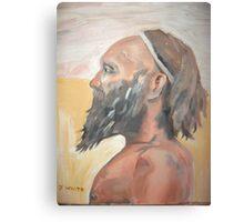 Aboriginal man profile Canvas Print