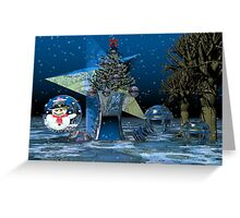 A fantasy Christmas scenery Greeting Card