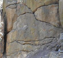 Old Stone Face Newport Lakes by Karen Gingell
