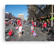 Waiting for the Christmas Pageant - Adelaide Canvas Print