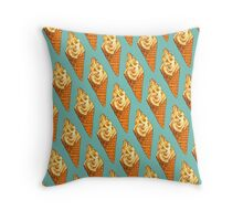 Vanilla Soft Serve Pattern Throw Pillow