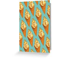 Vanilla Soft Serve Pattern Greeting Card